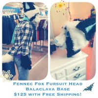 Fennec Fursuit Head for Sale ! (Cheap) by kyubees