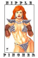 Red Sonja Nipple Pincher by daikkenaurora