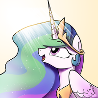 Celestia Button design by DarkFlame75