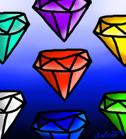 """The seven chaos emeralds"" by ClariceTW"