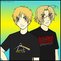 England and Canada in Band T-Shirts by RavenDunbar