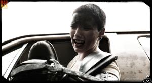 Furiosa losing her grip on Max. by BurchRootsStudio
