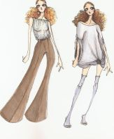 Fashion Illustration I-II by HateSong