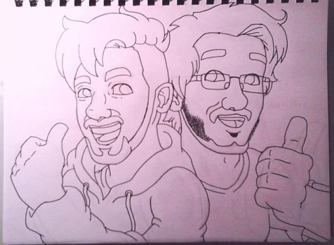 Markiplier and  Jacksepticeye (Collab.) by tribean85
