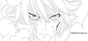 Fairy Tail 365 - Jellal Lineart by KhalilXPirates