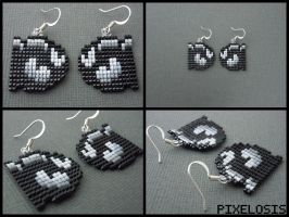 Bullet Bill Earrings by Pixelosis