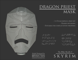 Skyrim - Dragon Priest Mask Papercraft Replica by RocketmanTan