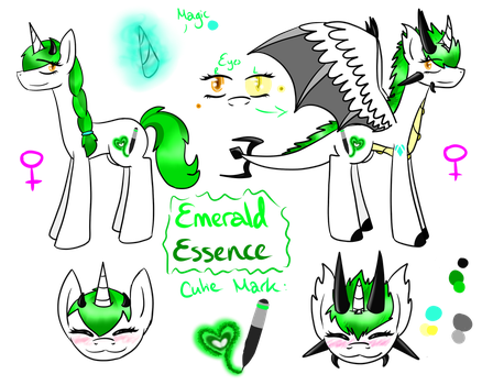 Emerald Essence Pone [Updated Ref Sheet] by LastbutnotAlise