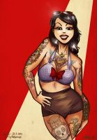 Pinup 34: Tattooed girl by albonet