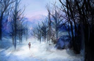Frozen Forest by Shadowcy