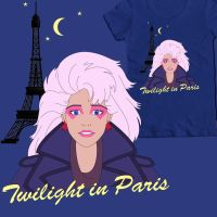 Twilight in Paris tee shirt design by DearStormer
