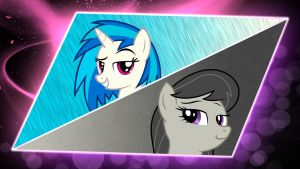Vinyl Scratch and Octavia Melody Wallpaper by PlanetaryPenguin