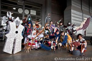 Monster Hunter cosplay group by HeavenAndSky