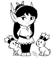 Rivia and Rabbits by Sparkle-And-Sunshine