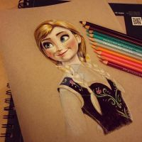 Anna progress by aaronbakerart
