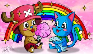 Chopper and Happy by ZombieGirl01