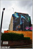 Graffitti Building by Flanegan