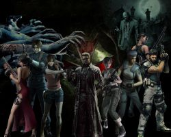 Resident Evil Characters by Lestat117x