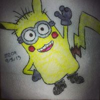 Napkin Art 209 - Pokeminion - Despicable Pokemon by PeterParkerPA