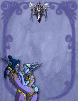 Night elf paper layout by Drunkfu