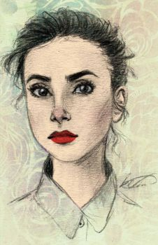 Lily Collins by Ezelie