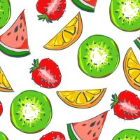 free fruits pattern by oxanaart