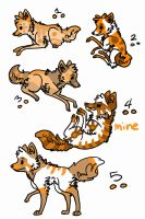 Orange Adoptables 1 and 4 SOLD by little-ashen-finch