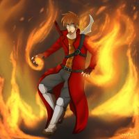All fired up to kick some butts! by ZeCrazyAngel