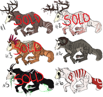 OPEN Skull Doge Adopt Batch FOR SALE! by loriLUNACY