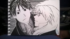 Roy Mustang and his Hawkeye by Matilzie