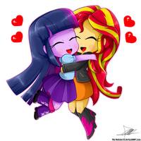 .:Chibi Hug:. by The-Butcher-X