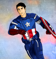 General Iroh as Captain America by mujigae45