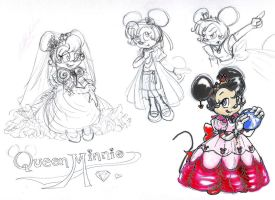 Sketch Dump: Queen Minnie KH by paradoxal