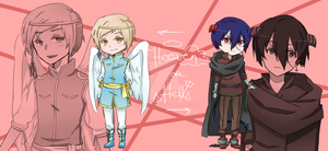 Angel+Demon boy adopts (CLOSED) by tetracyan