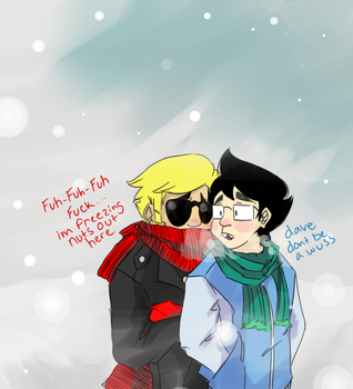 so cold today by Janbearpig