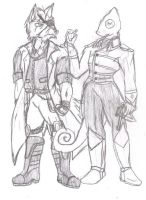 Wolf and Leon -AU Designs- by SirChristopher