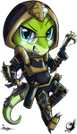 Luke the Demon Hunter Chibi by taalaruhun