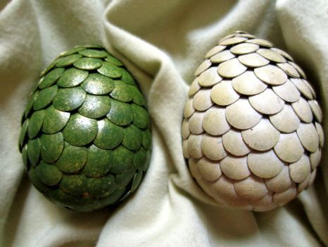 Daenerys' Dragon Eggs by RachaelLoraine