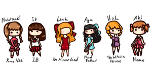 Horror Game Girls by FairyBlueSoul