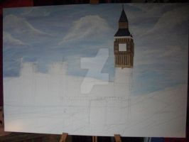 Painting Big Ben and Houses of Parliment WIP Part2 by BerryMouse