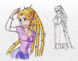 Rapunzel -New hair style color by TakuSalvemini