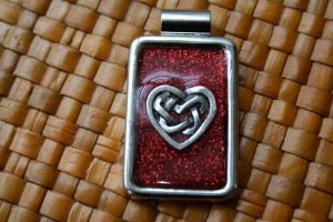 Tangled Heart Resin Pendant by Zen-Art-Gallery