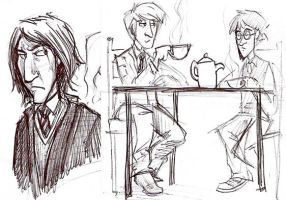 HP work doodles by NatAsplund