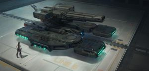 HOVER TURRET by Up-Tchi