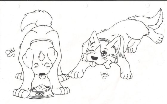 *Request* Odd and Lexi As Dogs by Survivior