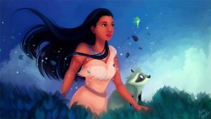 Disney Redraw: Pocahontas by MelodyMoore