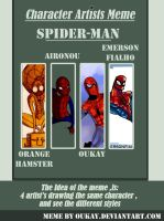 Character Artist Meme : ''SPIDER-MAN'' by oukay