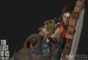 Ellie from The last of us Fan art, Pose02 by Azraele