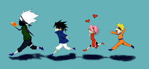 Chibi Team 7 by Damatris