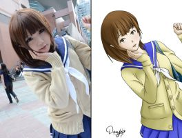 Real Life Girl Vs My awesome Cutie Girl by Doujio